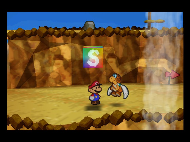Paper Mario - Location  - Hit the block, I dare you. - User Screenshot